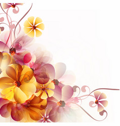 abstract floral background with flowers and space vector image