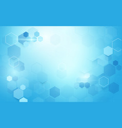 abstract geometric hexagons shape science vector image