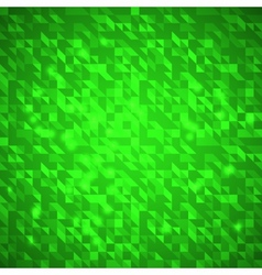 Abstract green bright triangles background vector