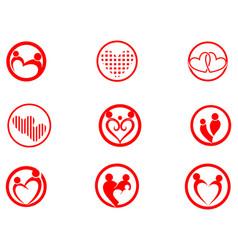 Adoption community care logo template icon vector