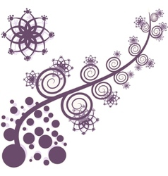 artistic purple tree vector image