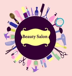 background for Hair and Beauty salon Barber Shop vector image