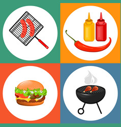 barbecue 02 vector image