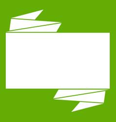 black banner icon green vector image