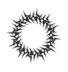 Black circle frame or mandala vector