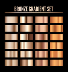 bronze metal realistic gradient collection of vector image
