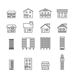 Building iconline vector