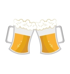 Cheers beer cups graphic vector