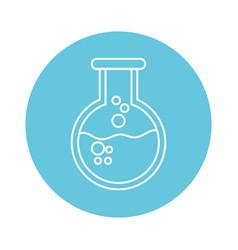 chemistry beaker cartoon vector image