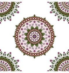 Circle mandala floral pattern vector