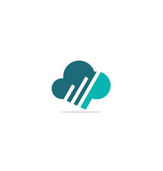 cloud colored logo vector image