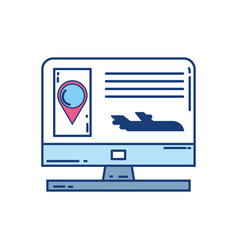 computer location pointer travel aviation vector image