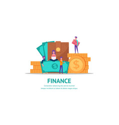 concept for finance vector image