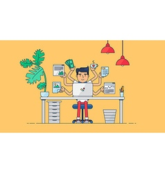 Creative Tech Workspace vector