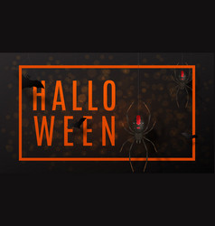 Dark halloween greeting web banner vector