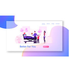 delivery childbirth clinic website landing page vector image