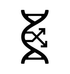 Dna mutation change gene flat gmo icon black vector