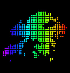 Dotted pixel spectrum hong kong map vector