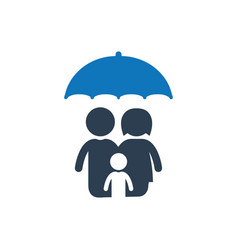 family protection icon vector image