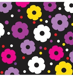 Floral seamless pattern in autumn colors vector image