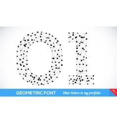 geometric type font vector image