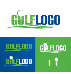 Golf logo and icon vector