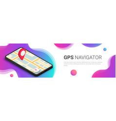 Gps navigator abstract banner vector