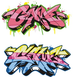 Graffito - game vector