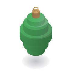 green xmas tree toy icon isometric style vector image