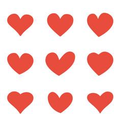 hand drawn hearts set design element vector image