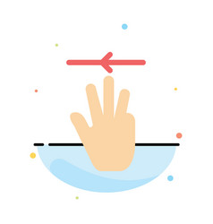 hand hand cursor up left abstract flat color icon vector image