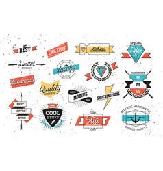 hipster badges set vector image