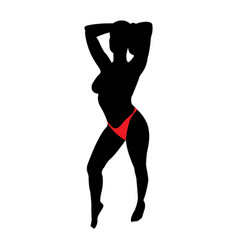 hot sexy woman image vector image