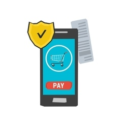 Icon mobile safe payment vector