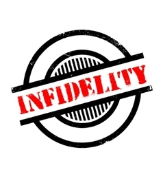 Infidelity rubber stamp vector