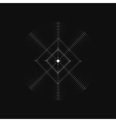 Infinite rhombic in circles vector image