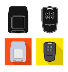 Isolated object of office and house icon set of vector