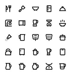 Kitchen Utensils Icons 1 vector