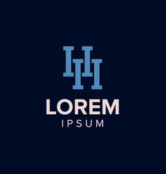 letter h logo concept design blue color vector image