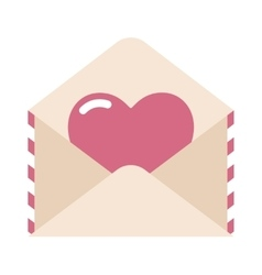 Love letter envelope and heart sticker cartoon vector