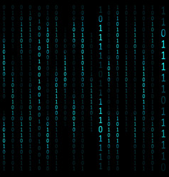 Matrix hacker dark background vector