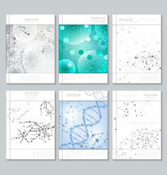 Molecular structure brochure or report templates vector image
