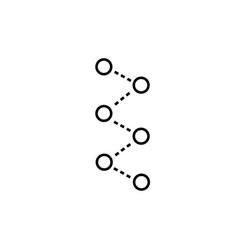 molecules icon vector image