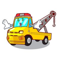 Money eye tow truck for vehicle branding character vector