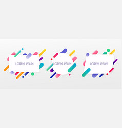 Paper card and abstract colorful shapes neon vector