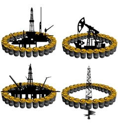 Petroleum business-3 vector image vector image