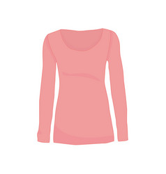 pink long sleeve shirt fashion style item vector image