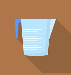 plastic jug icon flat style vector image