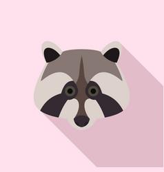 raccoon icon flat style vector image
