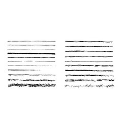 set of artistic pencil brushes hand drawn grunge vector image